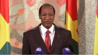 Le président du Burkina Faso, Blaise Compaoré