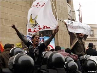 متظاهرون ضد الانتخابات في مصر