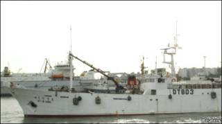 Затонувшее судно (архив)