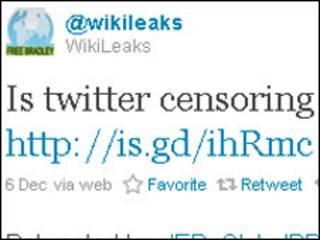 WikiLeaks en Twitter