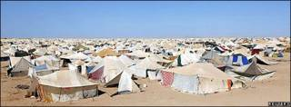 Campamento en Sahara Occidental