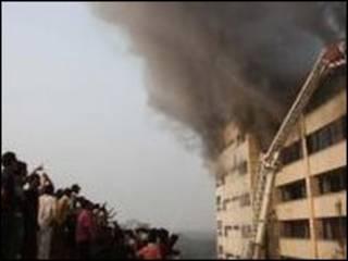 حريق بنغلادش