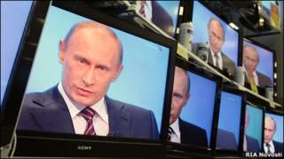 """""""Прямая линия"""" с Владимиром Путиным, 2008 год"""