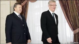 Віктор Янукович у Латвії