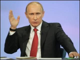 Владимир Путин в ходе телемарафона
