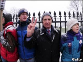 Дэниел Эллсберг протестует у Белого дома