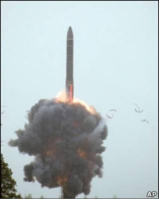 Запуск межконтинентальной ракеты