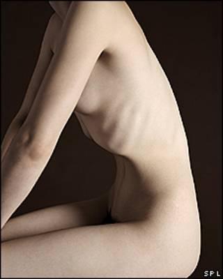 Modelo para representar a una mujer flaca