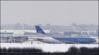 Засніжений аеропорт