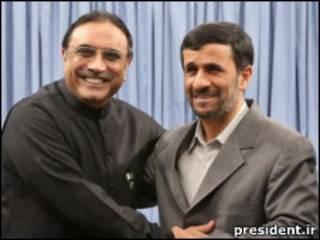 احمدی نژاد و زرداری