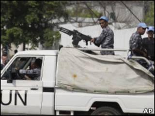 Membros da força de paz da ONU na Costa do Marfim