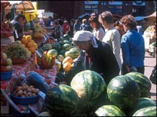 Продуктовый рынок в Перми