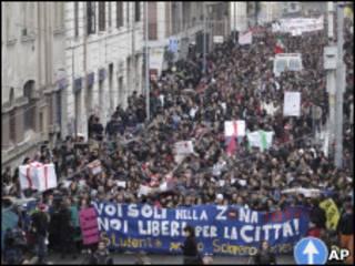 Студенты протестуют в Риме