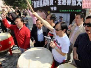 احتجاجات ضد المتورطين بفضيحة الحليب الصيني الملوث