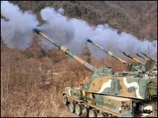رزمایش کره جنوبی در روز 23 دسامبر