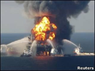 Тушение нефтяной скважины ВР