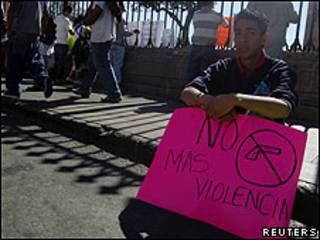 Protesta contra la violencia en México
