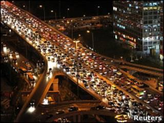 Пробка на третьем транспортном кольце в Пекине