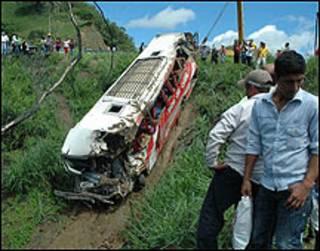 इक्वाडोर में बस दुर्घटना