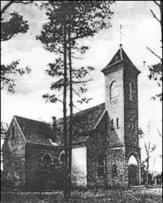Здание кирхи в Заркау до 1945 года