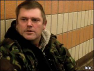 Alan, que vive nas ruas de Londres há 30 anos