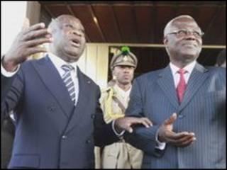 Tổng thống Laurent Gbagbo và lãnh đạo Tây Phi