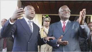 Laurent Gabgbo et un des émissaires de la CEDEAO