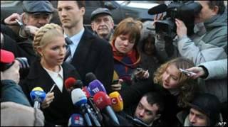 Тимошенко біля прокуратурі в середу, фото Франс Прес