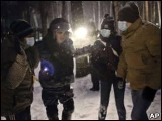 Участники националистических беспорядков в Москве (декабрь 2010 г.)