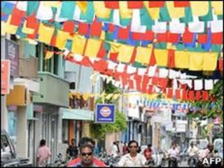 أحد الشوارع في المالديف