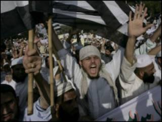 جانب من مظاهرات الجماعات الدينية ضد التعديلات المقترحة