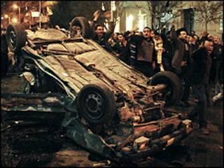 صحنه انفجار ماه ژانویه مقابل کلیسایی در اسکندریه