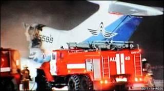 Ту-154 зайнявся полум'яв у Сургуті