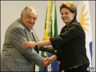 José Mujica e Dilma Rousseff