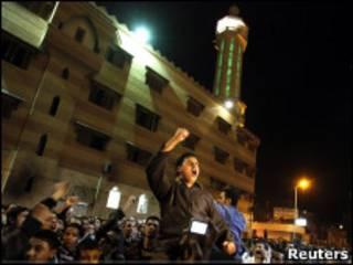 Копты протестуют в здания в Каире