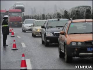 貴州所有被封閉的高速公路已開通運行(03/01/2011)