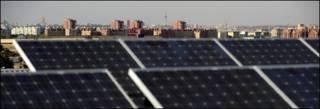Paneles solares en un techo de España