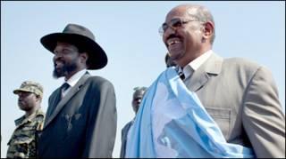 Marais Salva Kiir na Omar Bashir