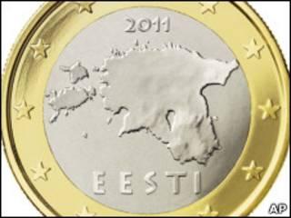 Эстонская монета евро