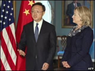 中國外長楊潔篪與美國國務卿克林頓·希拉里(05/01/2011)