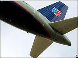 طائرة لخطوط يونايتد ايرلاينز