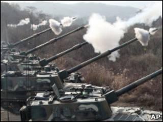 Учения южнокорейской армии