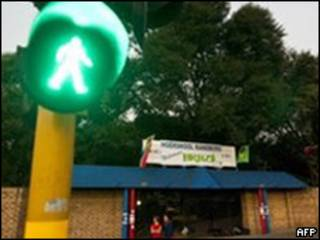 Semáforo em Johanesburgo