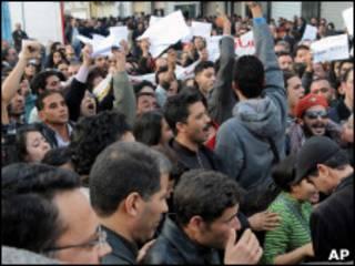 Manifestação na Tunísia
