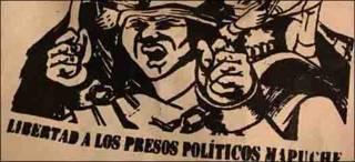 Manta pidiendo la liberación de los presos mapuches. Foto: Valeria Perasso.