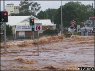 Enchentes no Estado de Queensland