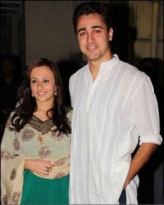 अभिनेता इमरान ख़ान और उनकी पत्नी अवन्तिका