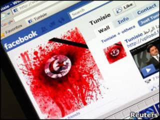 Страница в Facebook, посвященная протестам в Тунисе