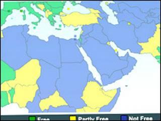 نقشه آزادی در جهان