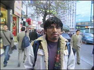Juan Carlos Aduviri en La Paz (Foto: Mery Vaca).